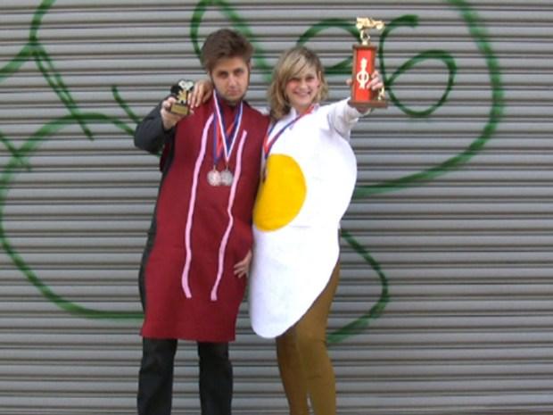 Eggs and Bacon Halloween Costume
