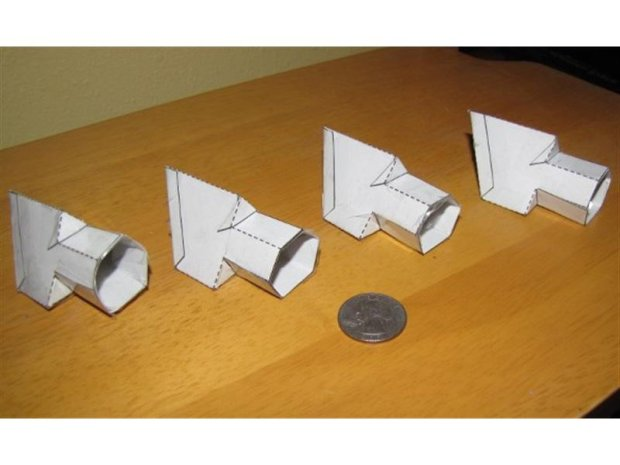 Metal Parts from Papercraft Molds