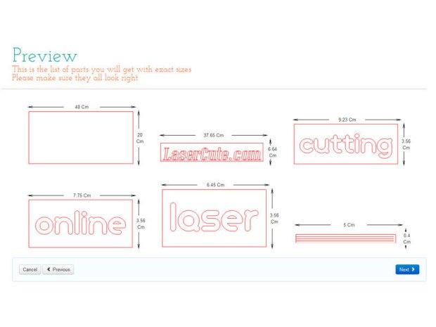Laser-Cut Sign Designed in Your Browser