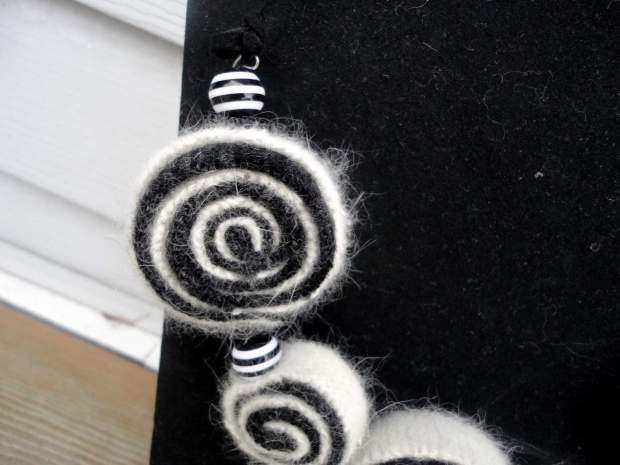 Recycled Sweater Swirl Necklace