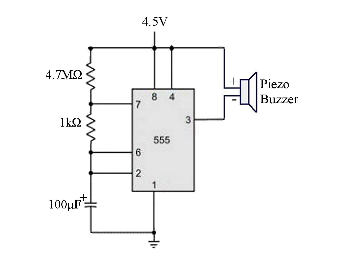 555 timer astable circuit