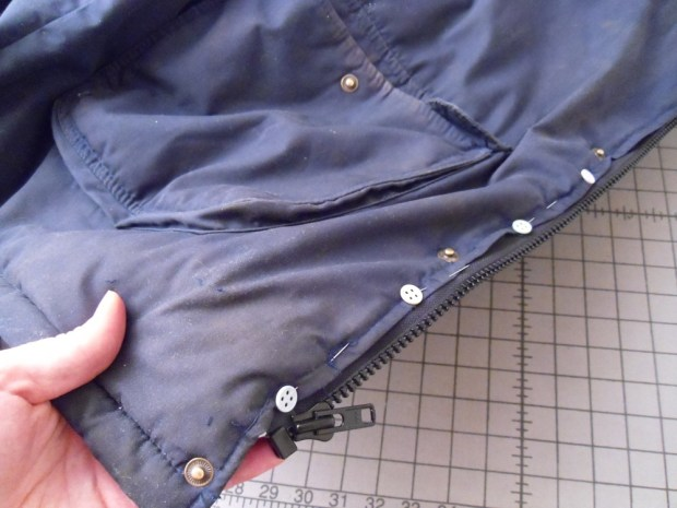 Zipper Repair for a Coat or Jacket