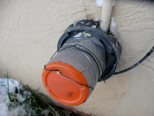 Outdoor Faucet Cover in a Hurry