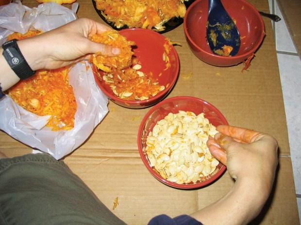 Roasted Pumpkin Guts