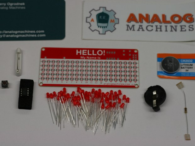 """LED """"Hello! My Name Is"""" Name Tag Kit"""
