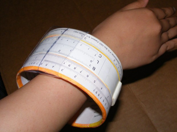 Wearable Slide Rule Bangle Bracelet