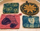 Cyanotype Printing on Hand Knits and Crochet