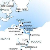 リューゲン島の地図