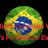 ブラジルの地図と大統領選結果の文字