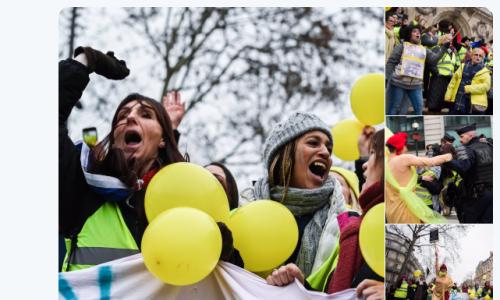 フランスの女性たちのデモ