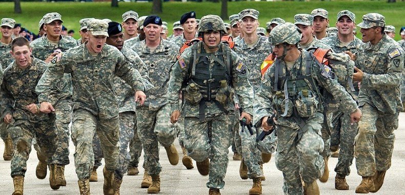 アメリカ軍の兵士たち