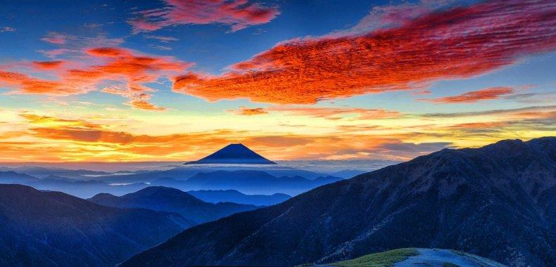 日本の富士山の風景