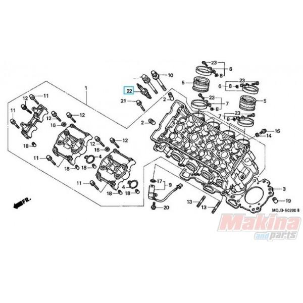 980595992U Spark plug IUH27D Honda CBR-900RR CBR-1100XX