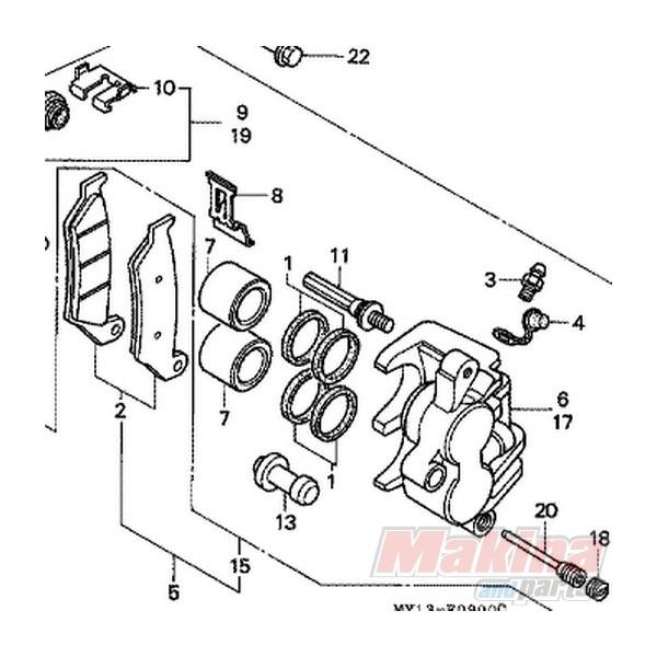 06431MA3405 Τσιμούχες Εμβόλων Εμπρός Φρένου Honda XRV/XLV
