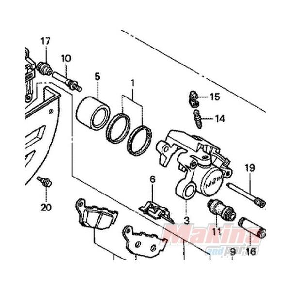 06451443405 Seal Set, Piston Rear Brake Honda XRV/XLV/CBR