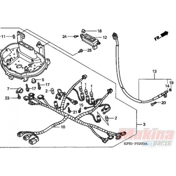 44830KPR900 Speedometer Cable Honda SH-125/150 '01-'12