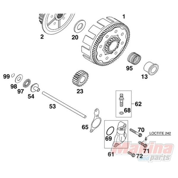50332061044 Αντλία Συμπλέκτη Κάτω KTM EXC-125-200 & LC-4