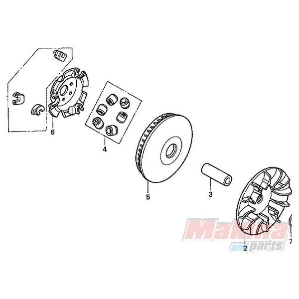 22123KPB000 Honda NSS-250 Jazz Transmission Rolls
