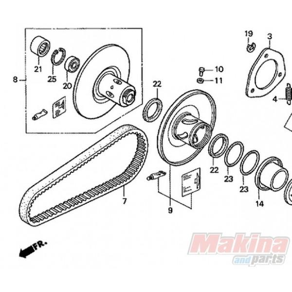23100KTB003 Drive Belt Honda FES-250 Foresight