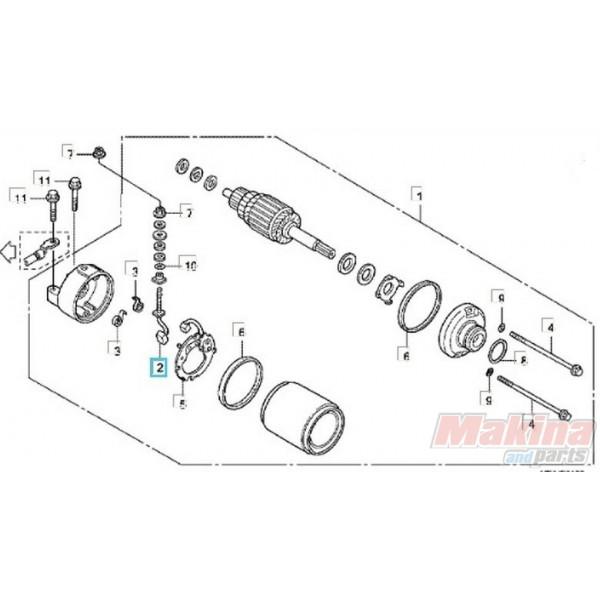 31201MBE008 Καρβουνάκι Μίζας Θετικό Honda CBF1000 CBR600 SH150