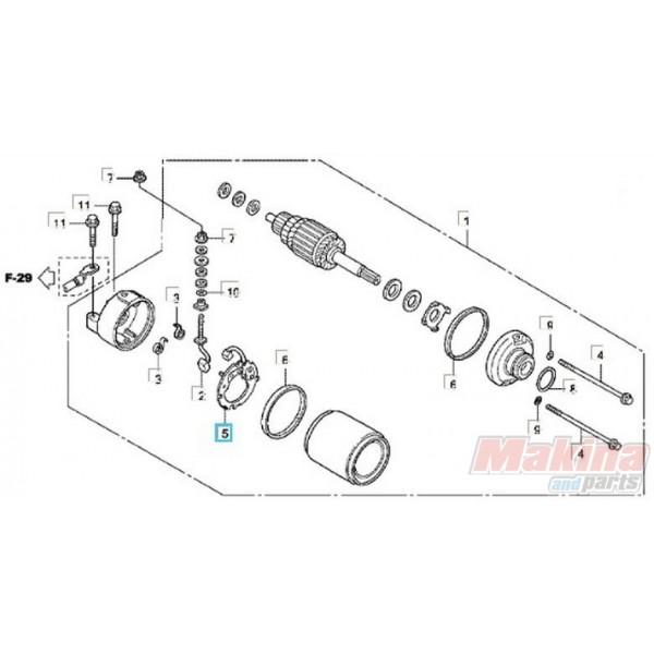 31206MBE008 Bruch Holder Set Honda CB-CBF-CBR