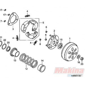 22535KWN900 Honda PCX-125 Weight Clutch Set