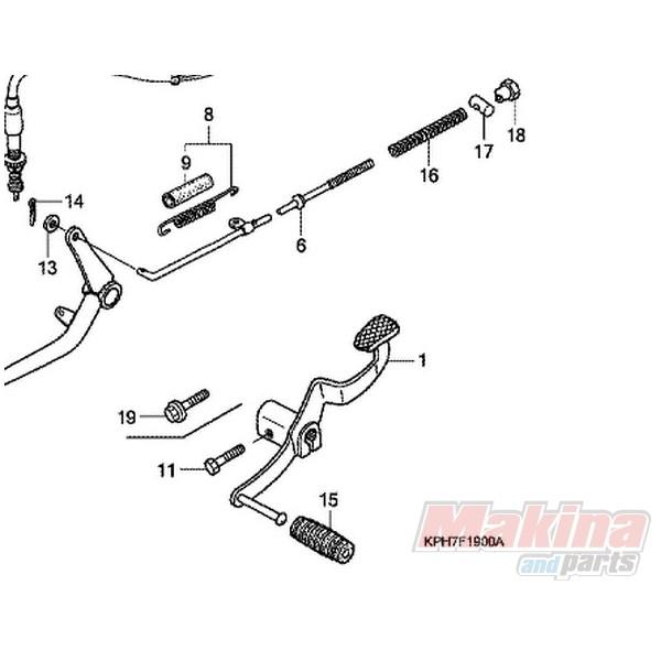 9501140000 Λάστιχο Πετάλ Ταχυτήτων Honda ANF-125 Innova
