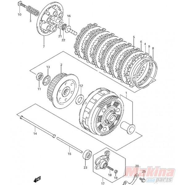 2144129F10 Clutch Drive Fiber Plate Suzuki SV-650