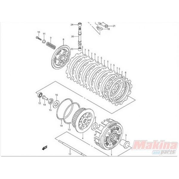 2144129F00 Clutch Drive Fiber Plate Suzuki DRZ-400