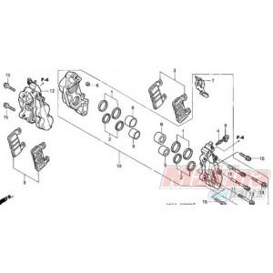 06455MCF016 Τακάκια Εμπρός Honda CBR-900RR VTR-1000SP