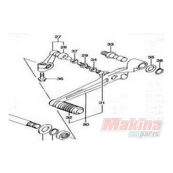 Pedal Gear Change Suzuki DL-650 V-Strom