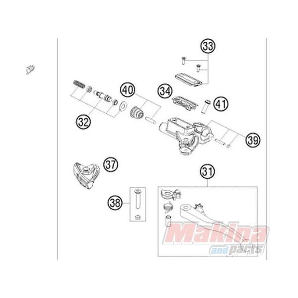 50302032100 Σετ Επισκευής Τρόμπας Συμπλέκτη 9.5mm KTM EXC