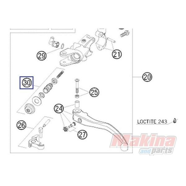 61002032000 Σετ Επισκευής Τρόμπας Συμπλέκτη 13mm KTM Duke 690