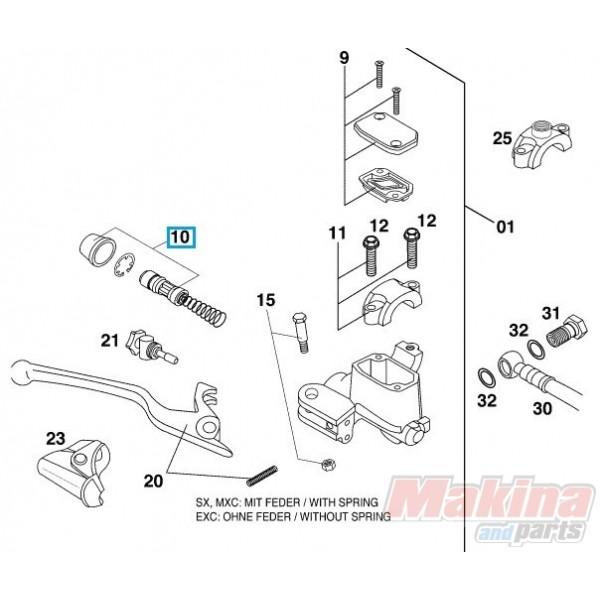 50313008100 Hand Brake Cylinder Repair Kit KTM EXC '00