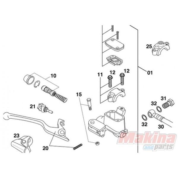 50313008000 Hand Brake Cylinder Repair Kit KTM SX '00