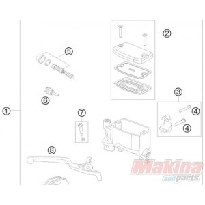60013008000 Hand Brake Cylinder Repair Kit KTM Adventure