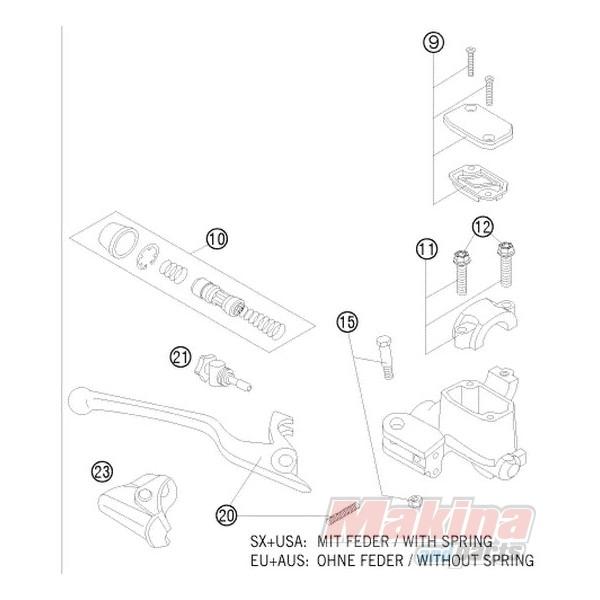 54813008200 Σετ Επισκευής Εμπρός Τρόμπας Φρένου KTM EXC