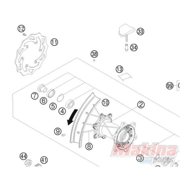 77310060000 Rear Brake Disk KTM EXC/SXF '07-'11