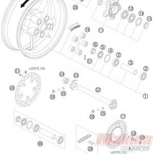61010060000 Rear Brake Disc KTM SM-T/Superduke-990