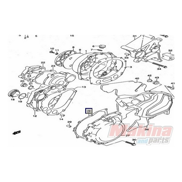 1148324F00 Ignition Cover Gasket Suzuki GSXR-1300 Hayabusa