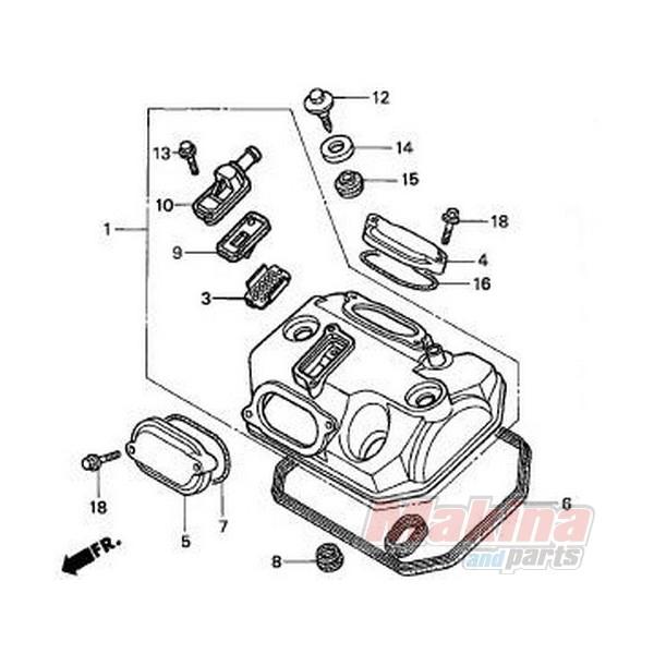12391MZ8650 Φλάντζα Κεφαλής Βαλβίδων Honda XL-650V Transalp
