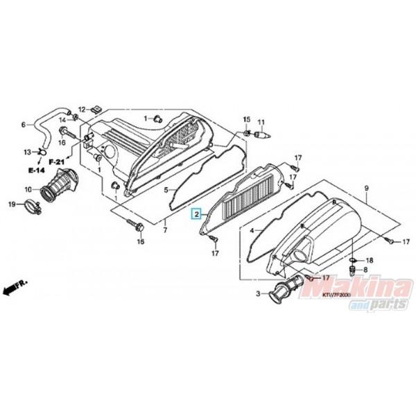 17210KTW900 Air Filter Honda SH-300