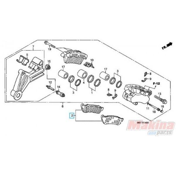 06435MAT016 Rear Brake Pads Honda XL-1000V Varadero CBR