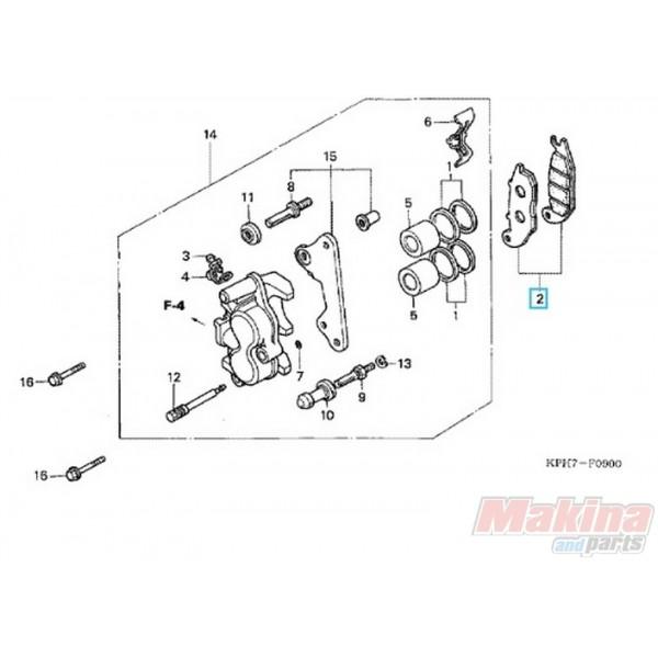 06455KPH952 Τακάκια Εμπρός Φρένου Honda ANF-125 Innova