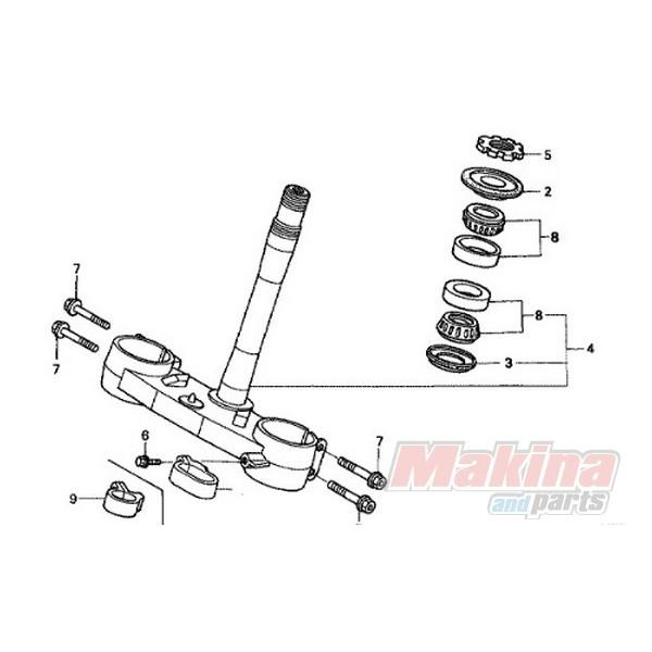 91015KZ4701 Ρουλεμάν Λαιμού Τιμονιού Honda CR-125/250 CRF