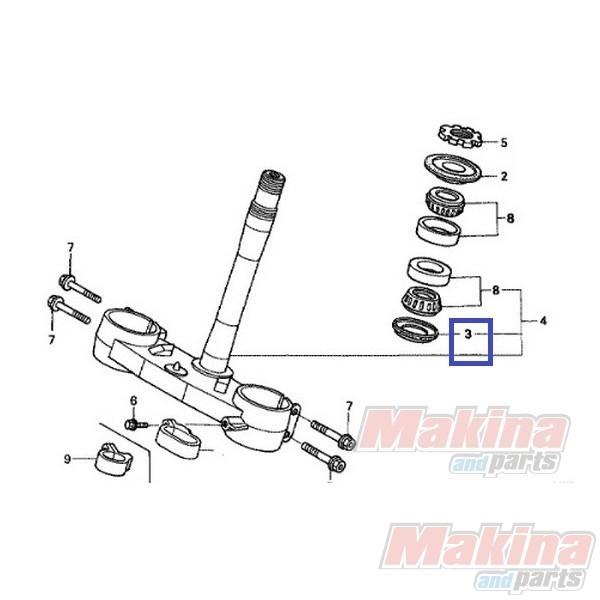53214KZ4701 Τσιμούχα Λαιμού Τιμονιού Honda CR-125/250 CRF