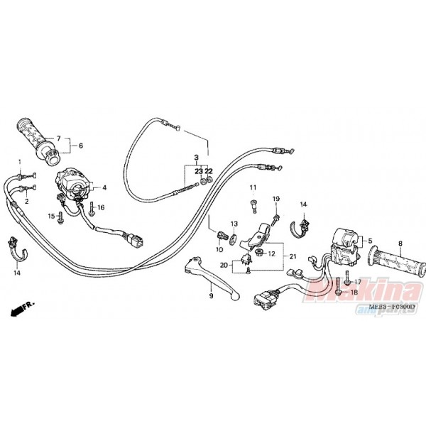 22870MEE010 Honda Clutch Cable CBR-600RR '03-'06