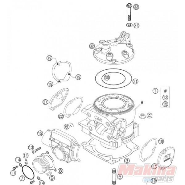 0770114020 O'ring Κεφαλής Κυλίνδρου Εξωτερικό KTM EXC-250/300