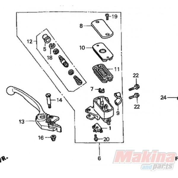 53170MBW006 Honda Hand Brake Lever CBR-600F '99-'06