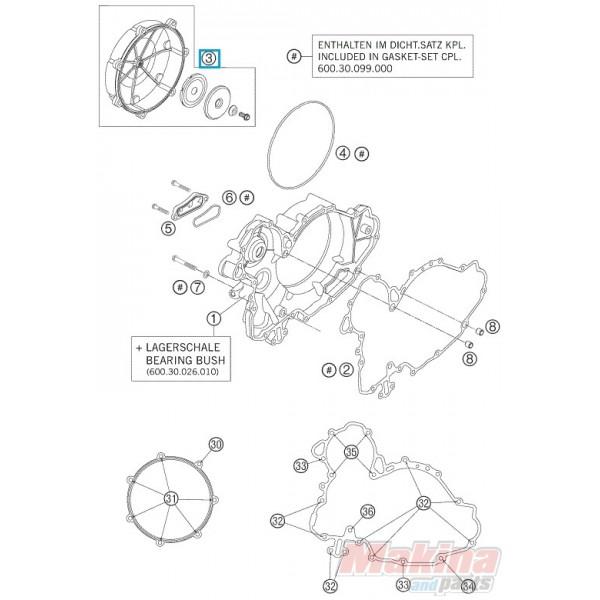 6003012614423 Καπάκι Συμπλέκτη Εξωτερικό KTM LC8-950-990